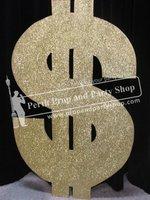 23-Gold Glitter Dollar Sign