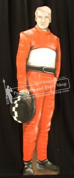 4-Racing Driver Red Leathers