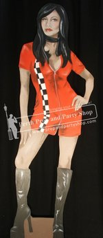 6-Pit Lane Girl Red Skirt
