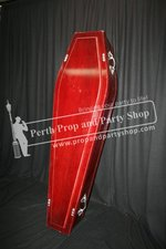 61-POLISHED TIMBER COFFIN prop