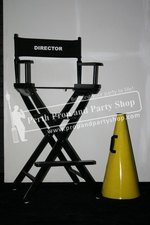 75-DIRECTOR'S CHAIR and LOUD SPEAKER props