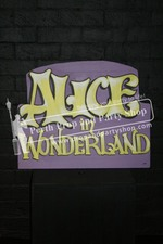 "12-""ALICE IN WONDERLAND"" sign"