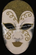 9-PIERROT MASK (GOLD)