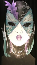 11-BUTTERFLY MASK (GREEN/PURPLE)