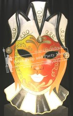 12-BUTTERFLY MASK (ORANGE/RED)