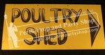 "8-""POULTRY SHED"" sign"