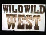 """27-""""WILD WILD WEST"""" sign"""