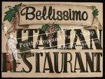 "8-""BELLISIMO ITALIAN RESTAURANT"" sign"