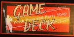 """9-""""GAME DECK"""" sign"""