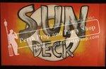 "11-""SUN DECK"" sign"