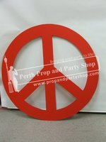 6-PEACE SIGN (red)