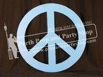7-PEACE SIGN (blue)