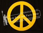 8-PEACE SIGN (yellow)