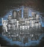 41-CITY AT NIGHT flats