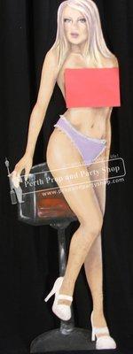 3-TOPLESS LADY (mauve panties)