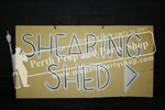 "27-""SHEARING SHED\"" sign"