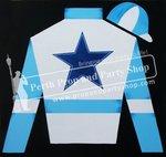5-SILKS/CAP (BLUE/WHITE STAR)