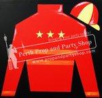13-SILKS/CAP (RED/YELLOW STARS)